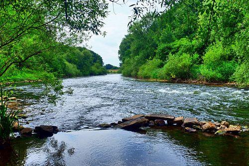 Fluss Lippe 2 van Edgar Schermaul