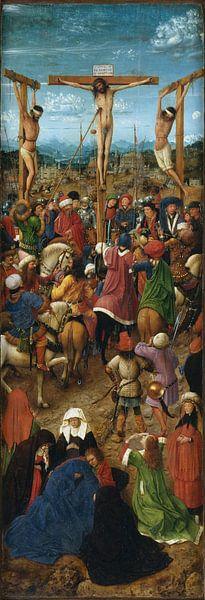 Jan Van Eyck - Tweeluik, linker paneel van 1000 Schilderijen