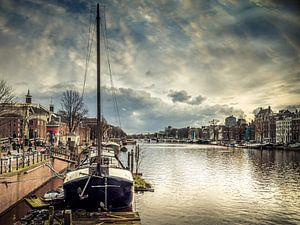 Zicht op de Hermitage , Amsterdam van