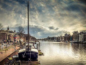 Zicht op de Hermitage , Amsterdam van Marcel van Berkel