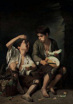 Bartolomé Murillo, Eters de raisins et de melons - 1645, Munich sur Atelier Liesjes