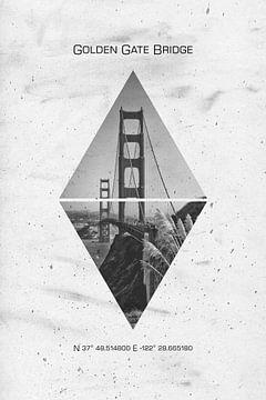 Coordonnées SAN FRANCISCO Golden Gate Bridge sur Melanie Viola