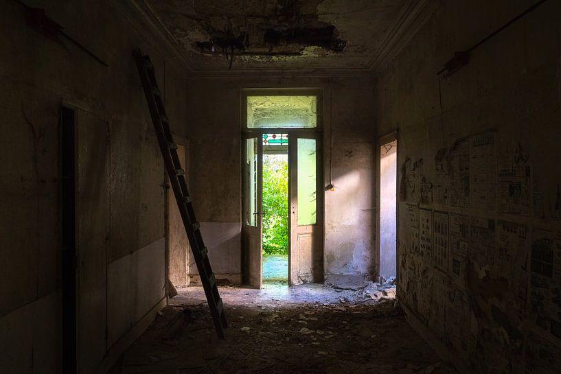 Eingang eines verlassenen Schlosses. von Roman Robroek