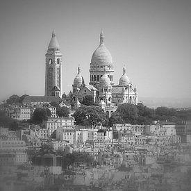 Parijs, Uitzicht op de Sacré Coeur van Ineke de Rijk