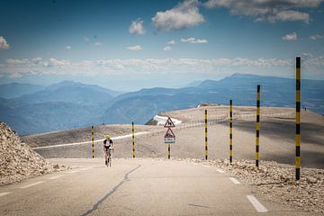 Radfahrer auf dem Mont Ventoux von Fenna Duin-Huizing