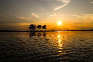 Zonsondergang op de Chobe rivier