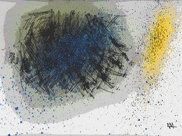 Blauw en Geel van Elmer Kouwenberg