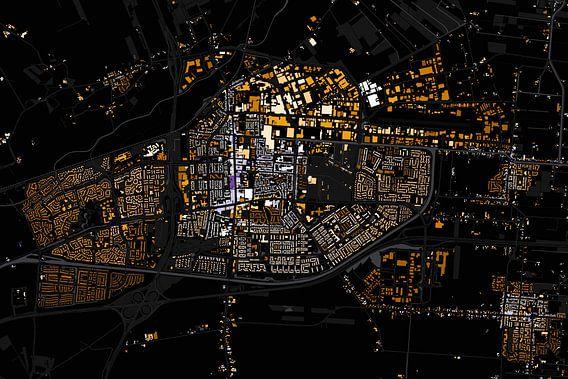 Kaart van Hoogeveen van Stef Verdonk
