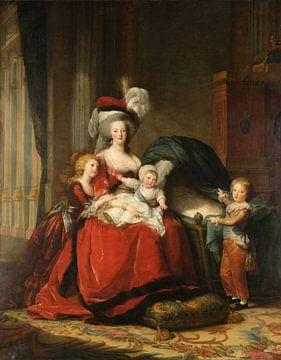 Marie-Antoinette et ses enfants, Louise Élisabeth Vigée Le Brun sur