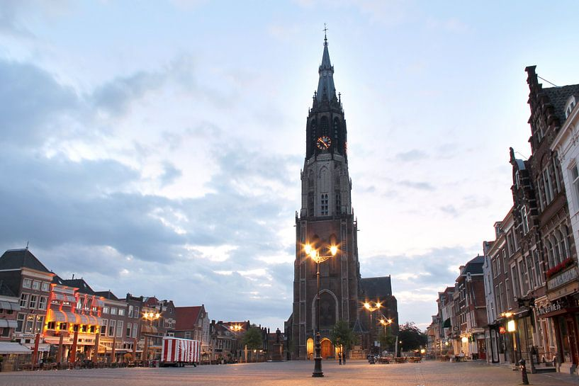 De Markt in Delft van Fleur Halkema