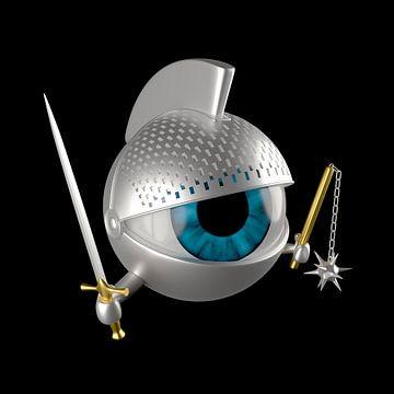 Ridderoog met zwaard, morgenster en wapenrusting van Jörg Hausmann