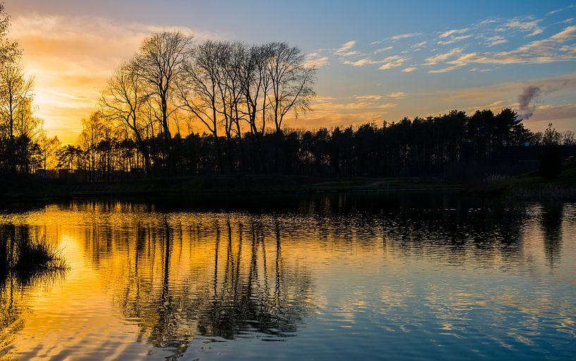 Zonsondergang. van Hennnie Keeris