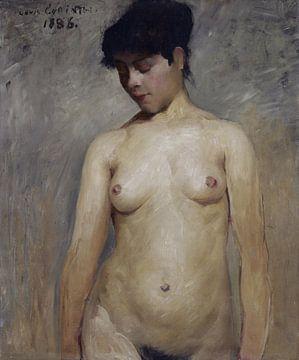 Nacktes Mädchen, Lovis Corinth - 1886