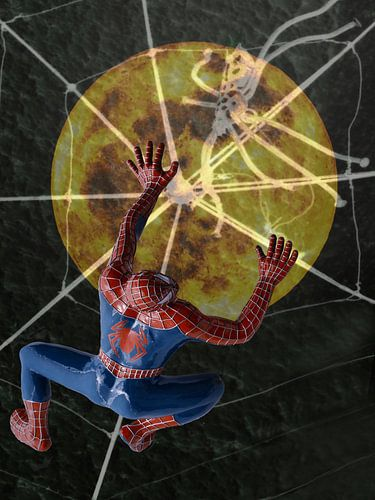 Spiderman auf dem Weg zum Mond