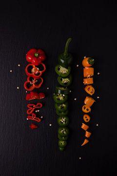 3 gekleurde pepers 2 van 2