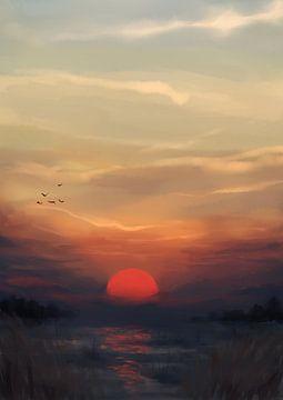 Red Sun sur Petra van Berkum
