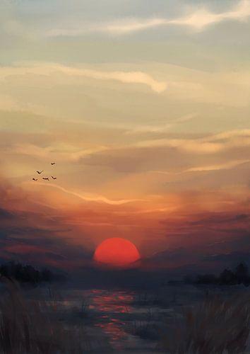 Rode Zon van