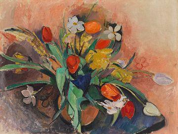 Vase mit Tulpen und Narzissen, stilleben, RUDOLF LEVY, 1919 von Atelier Liesjes