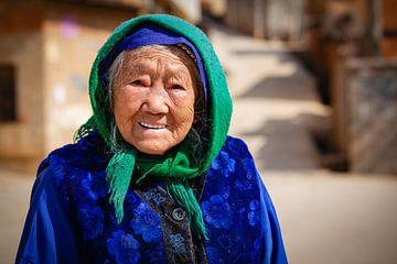 Inwoonster van Kunming, China van Frank Verburg