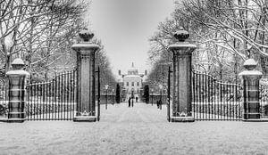 Huis ten Bosch in de sneeuw van