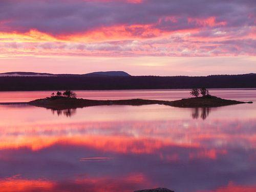 Zonsopkomst in prachtig Zweden