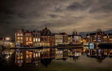 Maassluis furie haven avond wolken ervaarmaassluis van Marco van de Meeberg