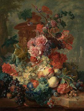 Stillleben mit Früchten, Jan van Huysum von Meesterlijcke Meesters