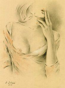 Sensuele lippen - vrouw in lingerie