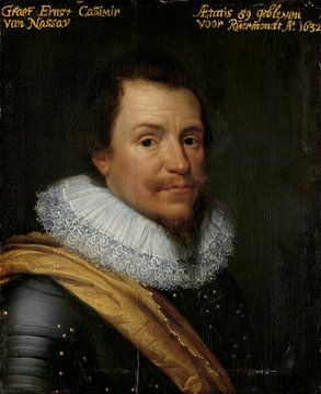 Porträt von Ernst Kasimir I., Graf von Nassau-Dietz, Michiel Jansz van Mierevelt