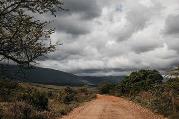 Eine dramatische Schotterstraße in Südafrika von Floor Bogaerts