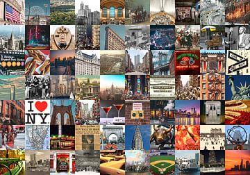 Typisch New York - collage van beelden van de stad en historie van Roger VDB