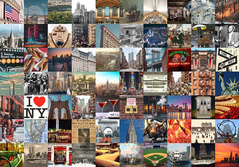 Typique de New York - collage d'images de la ville et de son histoire sur Roger VDB