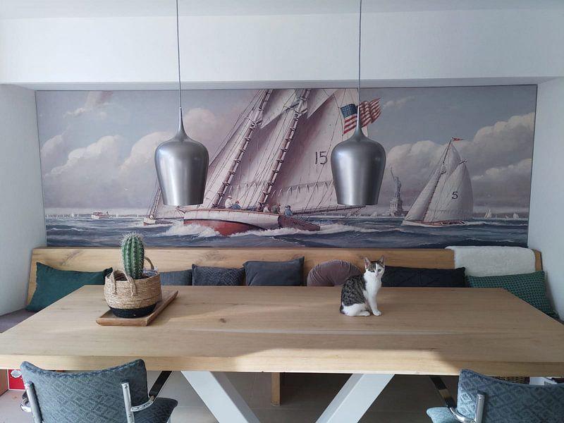 Kundenfoto: Statue of Liberty Sailing von Nicholas Berger, auf akustische wandbilder