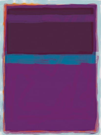 Abstract schilderij met paars en blauw