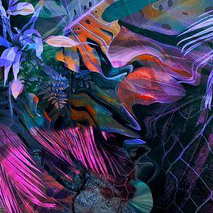 Wilde Natur Abstrakt Palmenblätter