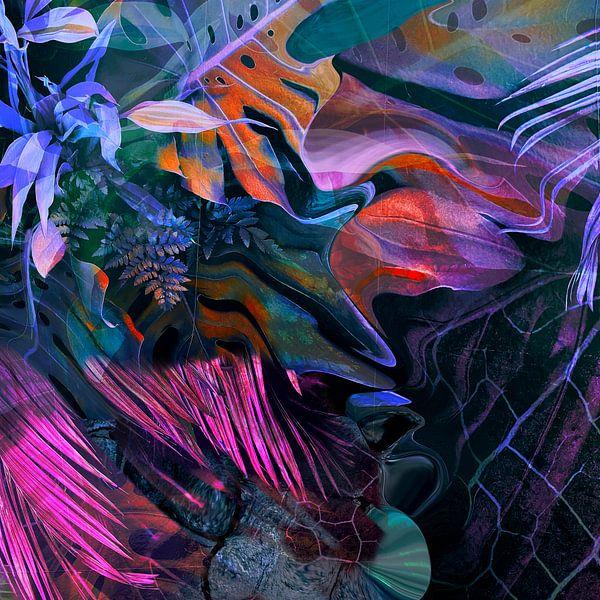 Wilde Natur Abstrakt Palmenblätter von Patricia Piotrak