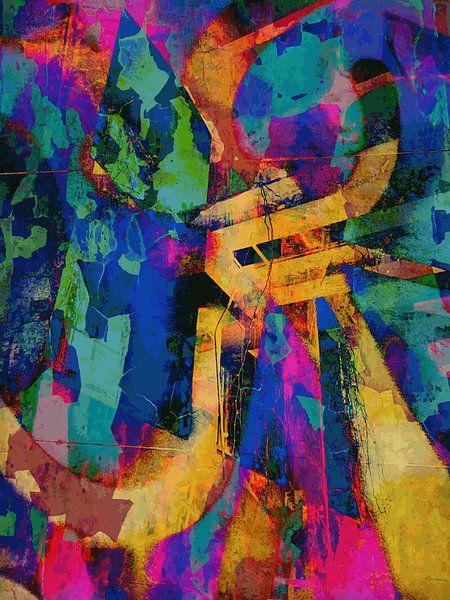 Modern, Abstract Digitaal Kunstwerk – I Remember The Days (Rechts) van Art By Dominic