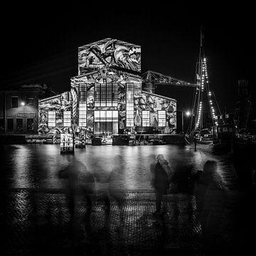 Das Theater De Kampanje während Den Helder Licht, Den Helder von Bertil van Beek