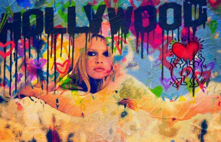 Brigitte Bardot Pop Art Collage - Hollywood
