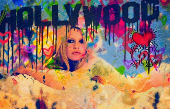 Brigitte Bardot Pop Art Collage - Hollywood van Felix von Altersheim