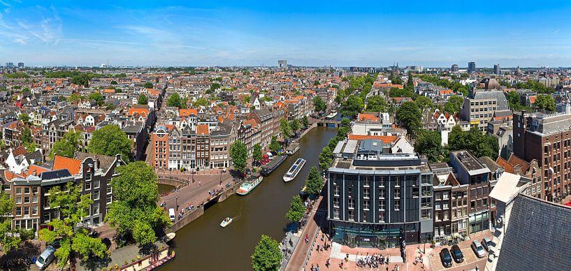 Panorama Jordaan, Grachtengordel-West en Prinsengracht te Amsterdam van Anton de Zeeuw