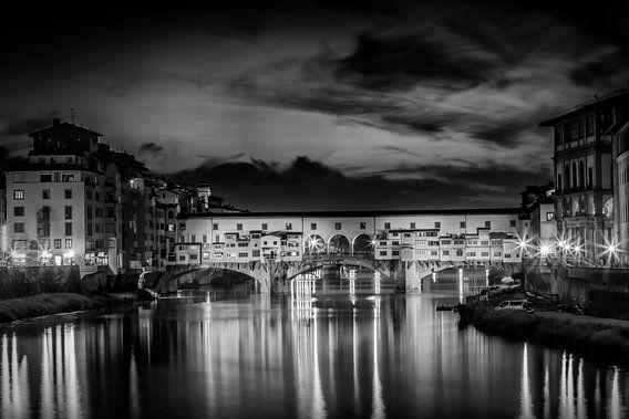 FLORENCE Ponte Vecchio at Sunset van Melanie Viola