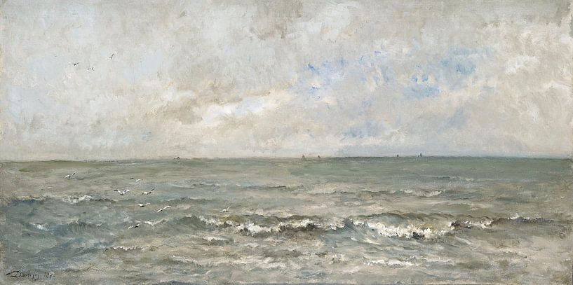 Seestück - Charles-François Daubigny von Meesterlijcke Meesters