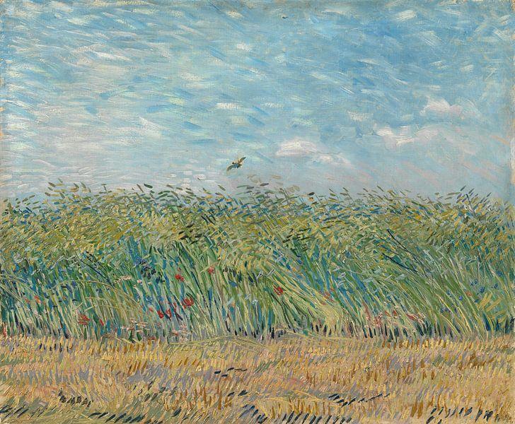 Vincent van Gogh, Maisfeld mit Rebhuhn von 1000 Schilderijen