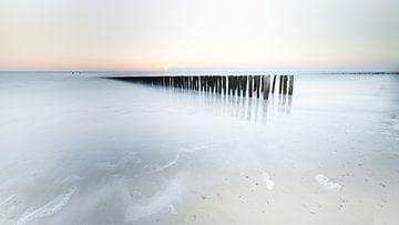 zonsondergang in Zoutelande van Ingrid Van Damme fotografie