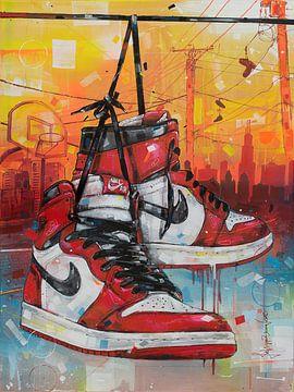 Nike air Jordan schilderij van Jos Hoppenbrouwers
