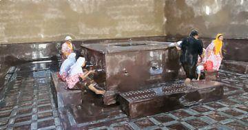 Waschraum in der Moschee von Frank Heinz