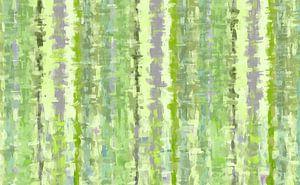 Groene kunst abstract van