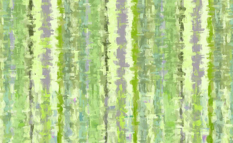 Groene kunst abstract van Marion Tenbergen