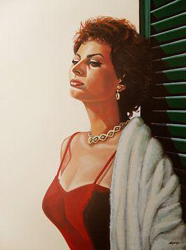 Sophia Loren Schilderij 2 van Paul Meijering
